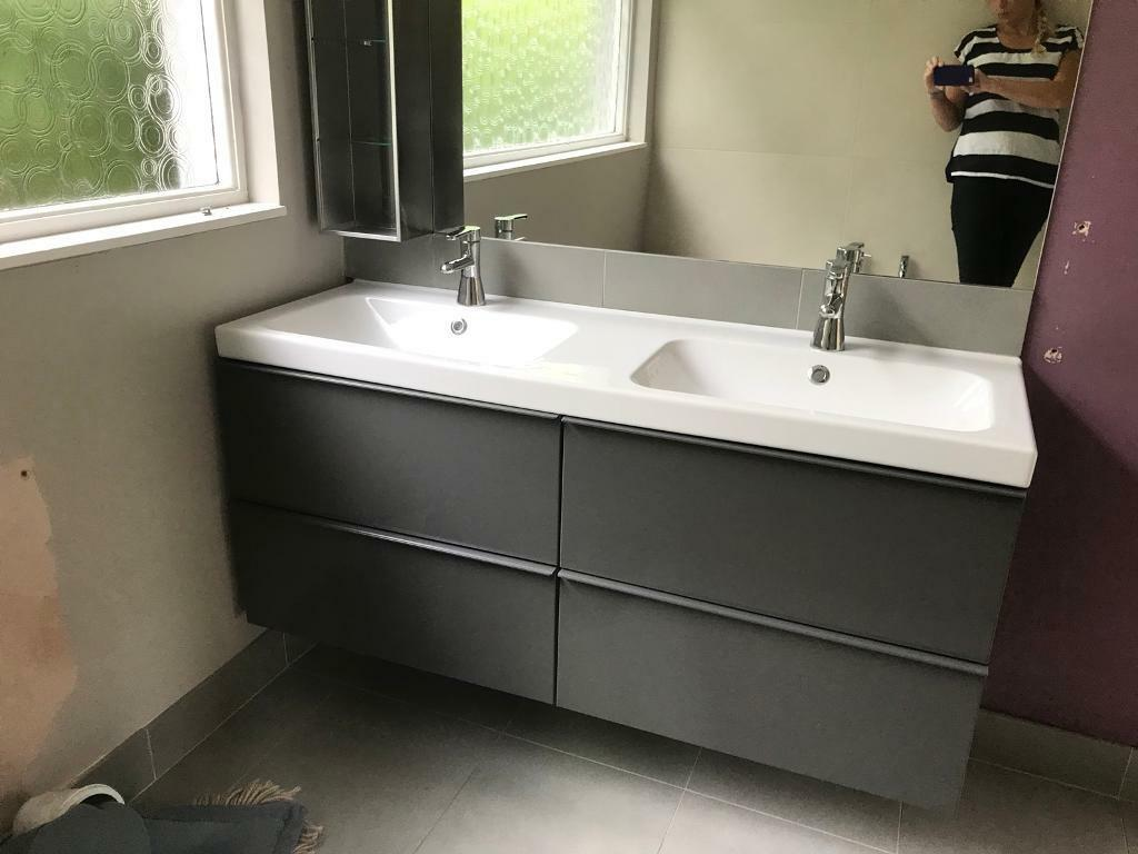 quality design 1f10d 36eeb White Ikea double sink and 4 drawer vanity unit. | in Bangor, County Down |  Gumtree