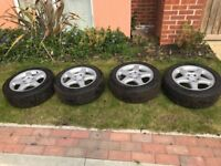 Mercedes C Class (W203) Four Alloy Wheels with Goodyear Tyres