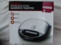 Stainless Steel Sandwich Toaster - Sainsbury's