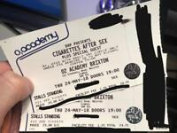 2x Cigarettes After Sex Tickets Thursday 24th May (Brixton)