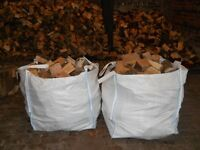 """Dry Seasoned Firewood Logs - Cut / split ( 8""""-10"""") lengths Ideal for wood burning stove or open fire"""