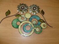 Metal decorative wall artwork. Change of room decorations have prompted this sale.
