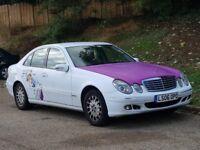 Mercedes E220 CDI Elegance Auto (2006/06 Reg) + NEW SHAPE + FSH + HIGH MILEAGE + WHITE +