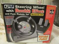 Nintendo 64 steering wheel and pedals