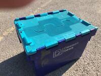 HEAVY DUTY PLASTIC STORAGE BOX X 10