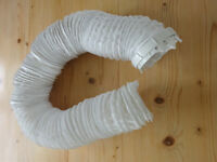 Tumble Dryer Vent Hose 4 inches Diam. x 8 Feet White Knight