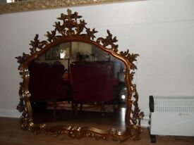 WOOD CARVED MIRROR (113 x 118 CMS)