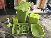 Kitchen Bin,Bowl, Dish Rack, Bread Bin and Accesories