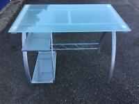 Smoked Glass desk in excellent condition