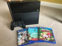Playstation 4 500GB Console & 3 Games