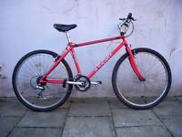 Mens Mountain/ Commuter Bike by Saracen, Red, Tange Cro-Mo Frame, JUST SERVICED / CHEAP PRICE!!!!!!!