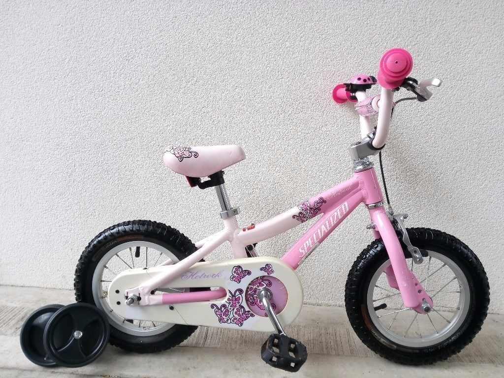 """FREE Bell with (2622) 12"""" Aluminium SPECIALIZED Girls Bike Bicycle+STABILISERS Age: 2-4, 85-100cm"""
