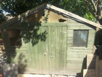 10ft x 10ft wooden shed