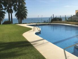 BENALMADENA-COSTA...LOVELY TWO BEDROOM APARTMENT..BEACH FRONT