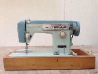VINTAGE BLUE BROTHER SEWING MACHINE FOR SALE