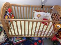Baby cot from mothercare with matress