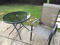 Brand new garden table with 4 chairs