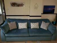 4 seater air force blue sofa for sale