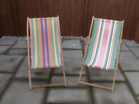 Vintage deck chairs