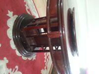Large Round Wooden dining / 6 Chairs
