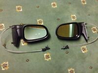 New Trupart Ford Galaxy Mk.2 00-06 Left & Right Side Black Cable Wing Mirrors - Very Good Condition