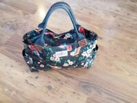 Cath Kidston Garden Birds Deep Green Day Bag Limited Edition