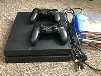 Sony PlayStation 4 1TB CUH 1216B bundle, 6 games, all wires included