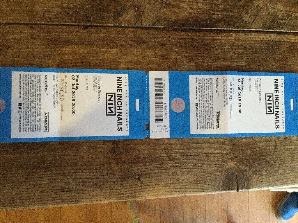 Nine Inch Nails - Two tickets to Berlin concert on 2 July 2018. | in ...