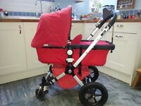 Bugaboo Cameleon Complete Travel System - Red. With extra accessories.