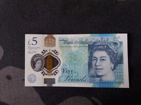 Five pound note AA10 PERFECT CONDITION