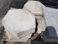 Hexagonal concrete paving slabs new