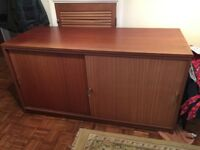 OFFICE SIDEBOARD/TAMBOUR UNIT