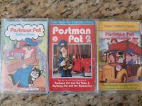 Postman Pat 3 x childrens cassette tape stories audio books - used
