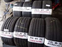 "SELECTION OF NEW AND ALMOST NEW 18"" TYRES - MOST SIZES AVAIL - TXT YOUR SIZE FOR PRICE & AV SUN 5PM"