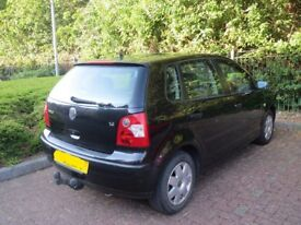 VW POLO - BLACK (1.4L), kept in good condition with full service history.