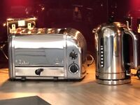 Dualit classic silver toaster & kettle