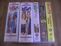 Videos VHS x 7. Bottom, Complete Series 2, 3 BBC + Bottom Smells, Fluff + Hooligans Island. BBC set.