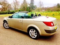 MEGANE DYNAMIQUE CONVERTIBLE IN UNCHALLENGED CONDITION. LOW MILEAGE. LONG MOT. DRIVES SUPERB.
