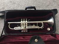 BESSON Trumpet with Red velvet lined hard case