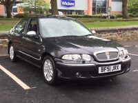 2002 ROVER 45 CONNOISSEUR * 2.0 DIESEL * SALOON * 1 OWNER * S/HISTORY * BLACK LEATHER *