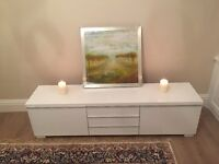 Ikea white shine tv unit & coffee table. £290 of kit for £100