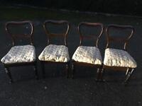 Antique Balloon Chairs. Set of 4 in Good condition. Can deliver
