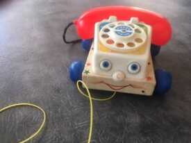Vintage Fisher Price pull along chatter telephone