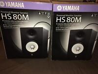 **STUDIO SALE** Yamaha HS 80M Studio Monitors -Pair with Auralex Acoustic MoPads