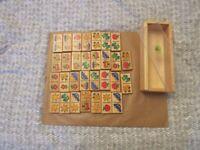 Lovely wooden children's domino game