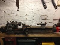 Metal work lathe with ac motor