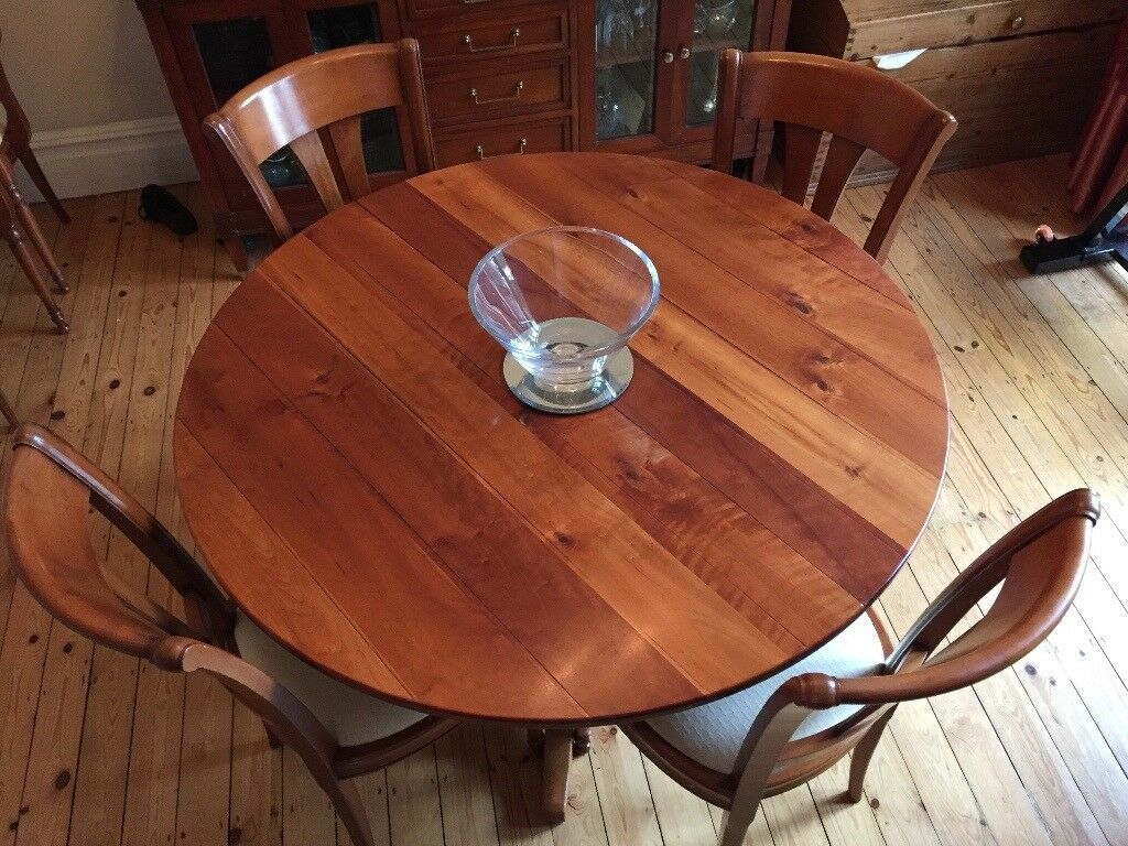 French Style Cherry Wood Multiyork Expandable Dining Table