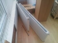 2x white radiators