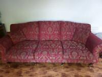 2 x 3 seater fabric sofa