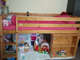Mid sleeper bunk bed with desk